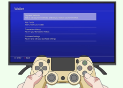 How to delete credit card from PS4