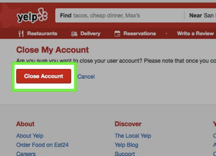how To Delete Yelp Account
