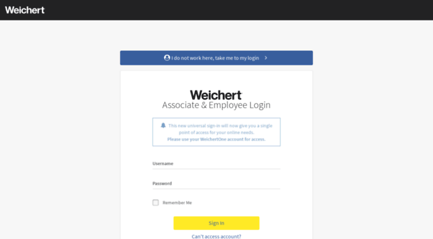 Weichertone login
