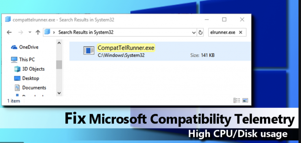 How to fix Microsoft compatible telemetry
