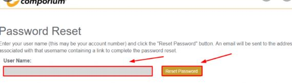 Comporium Webmail Account Password Reset