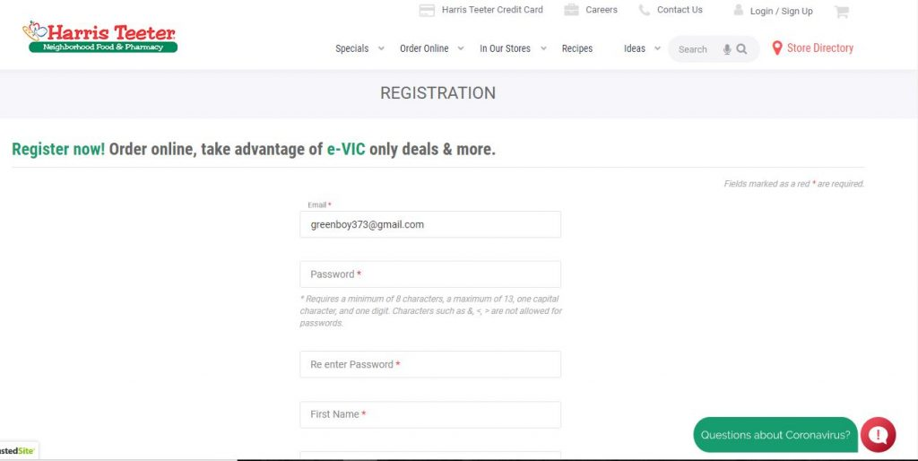MyHTSpace Registration Procedure