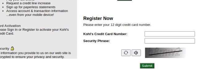 Mykohlscharge Credit Card Registration
